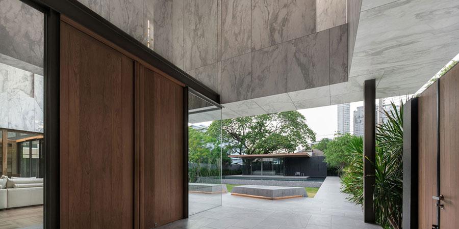 marmol en exterior